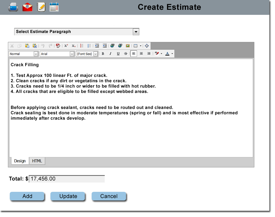 Estimating Scheduling And Invoicing Software For Paving And - Contractor estimate and invoice software